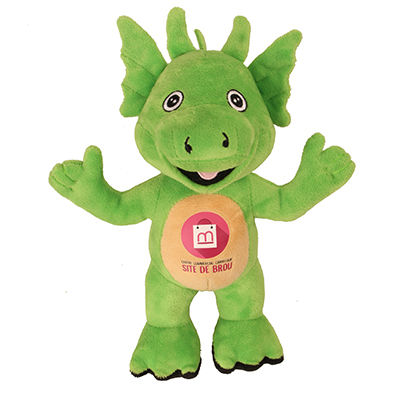 Peluche dragon vert