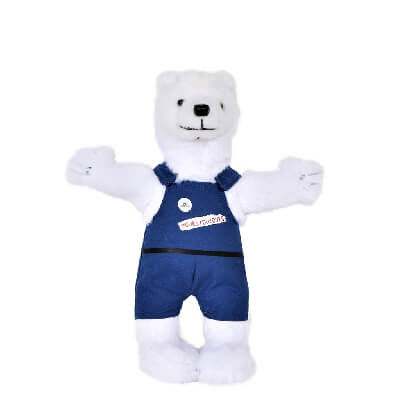 Peluche ours blanc Ursa
